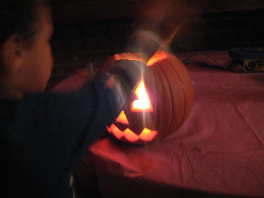 lighting of the pumpkin