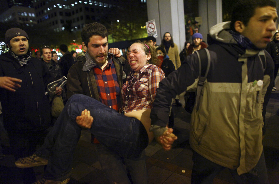 Pregnant Occupy Seattle protester Jennifer M. Fox miscarries after being pepper sprayed by the police