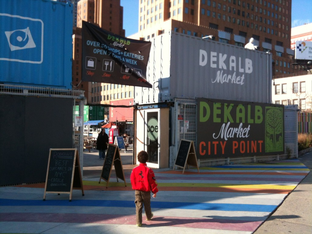 entrance to Dekalb Market from the Flatbush Ave Extension side