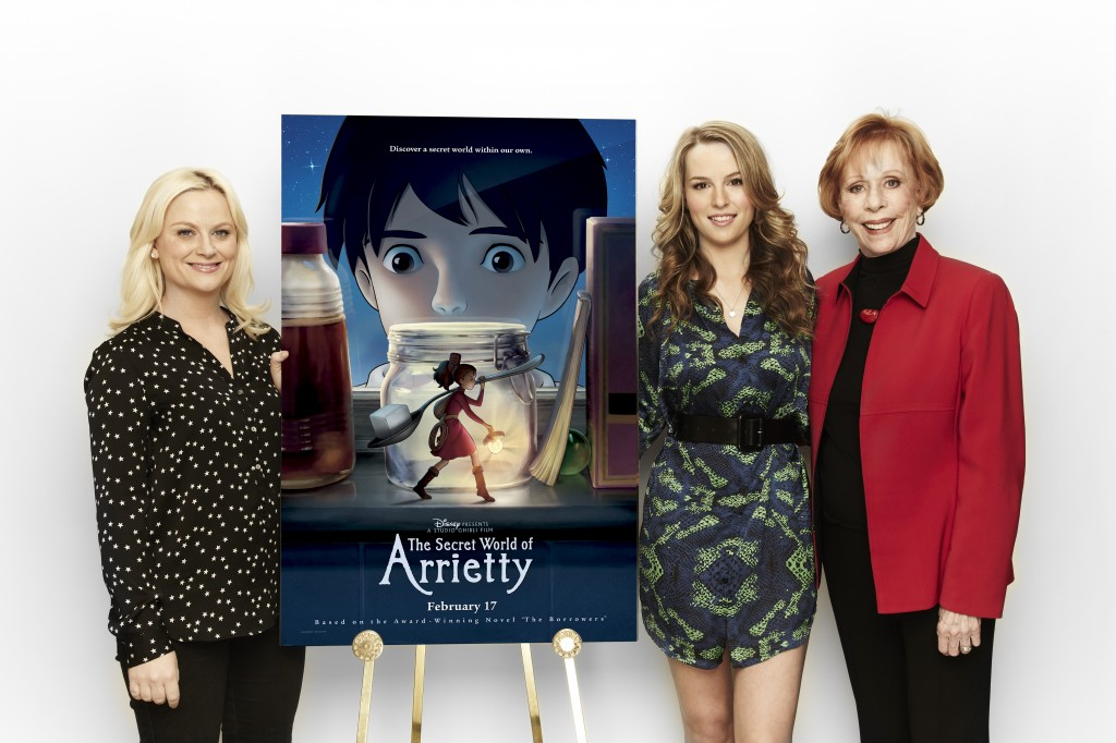 Cast Members: Amy Poehler, Bridgit Mendler and Carol Burnett in Los Angeles to promote the film.