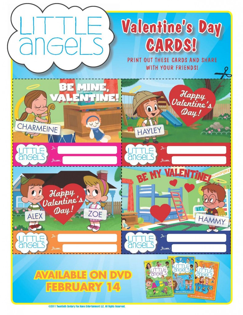 Little Angels Valentine's Cards