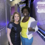 Katie Couric and Ghada Vanderpool after a taping of talk show Katie