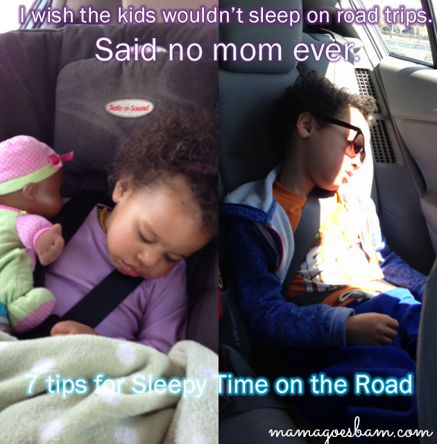 Tips to help kids nap on roadtrips