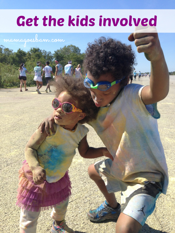 involve kids in the color run